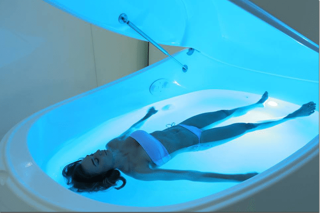 Floating-in-a-float-pod