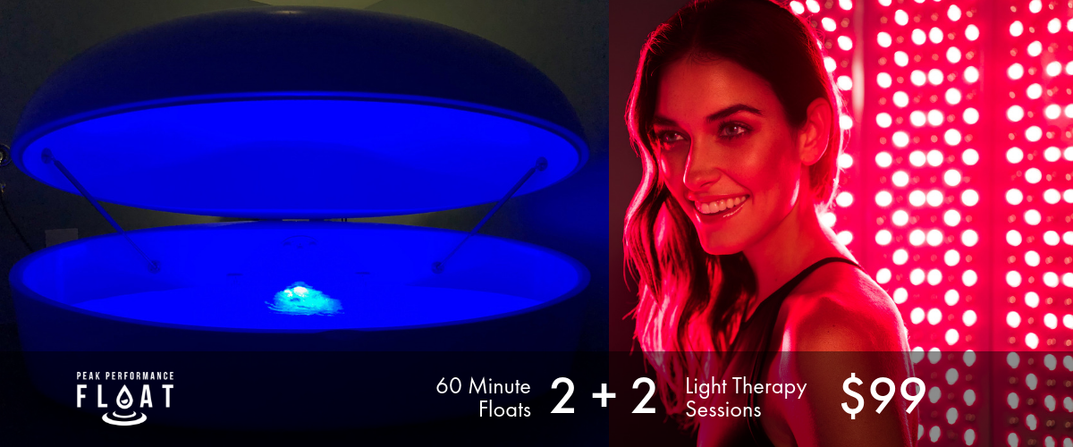 Holiday Special Floating and Red Light Therapy