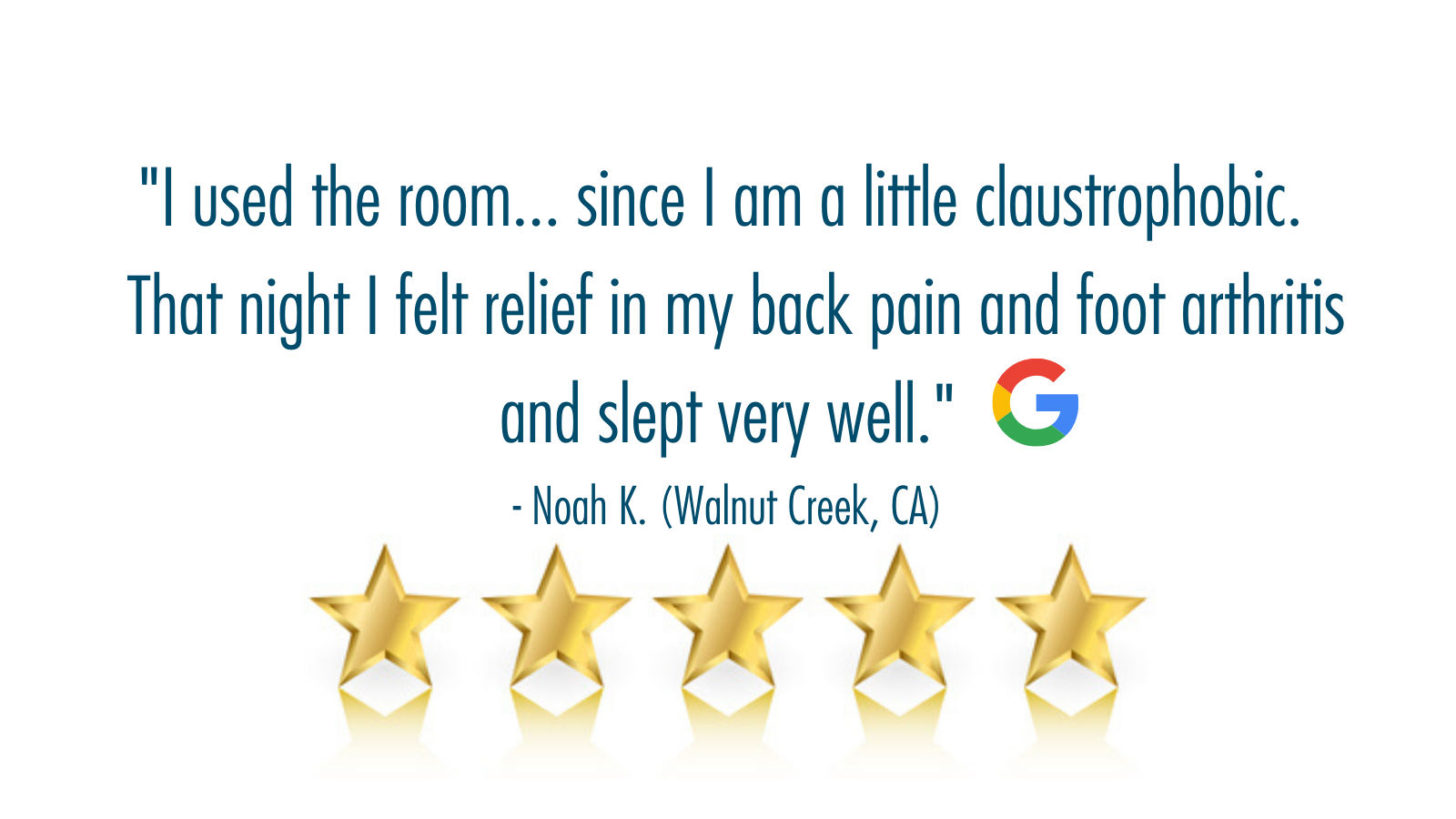 5-star review Walnut Creek